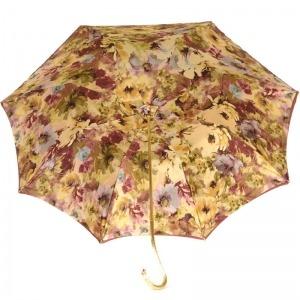 Зонт-трость Pasotti Bordo Fiore Oro фото-3