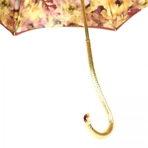 Зонт-трость Pasotti Bordo Fiore Oro фото-4