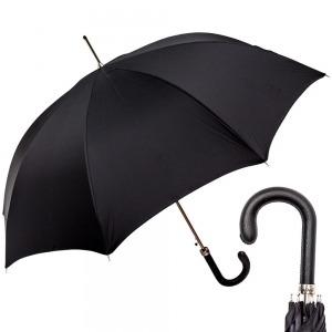 Зонт-трость Pasotti Classic Pelle Oxford Black фото-1