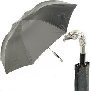 Зонт складной Pasotti Auto Eagle Silver Onda Black фото-1