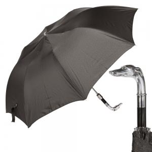 Зонт складной Pasotti Auto Bracco Silver Onda Black фото-1