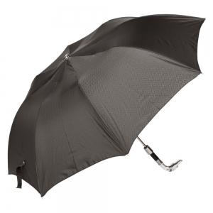 Зонт складной Pasotti Auto Bracco Silver Onda Black фото-2