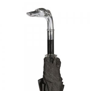 Зонт складной Pasotti Auto Bracco Silver Onda Black фото-4