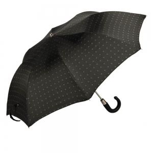 Зонт складной Pasotti Auto Classic Pelle Rombo Black фото-2