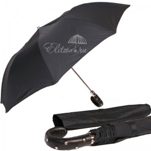 Зонт складной Pasotti Auto Esperto Oxford Black фото-1