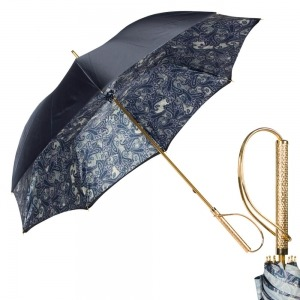 Зонт-Трость Pasotti Blu  Paisley Rapira Oro фото-1