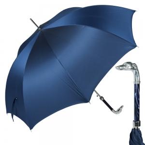 Зонт-Трость Pasotti Bracco Silver Oxford Blu фото-1