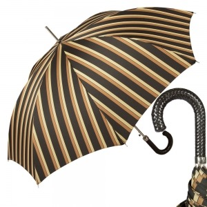 Зонт-Трость Pasotti Braid Alfred Marrone фото-1
