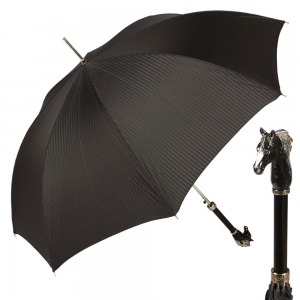 Зонт-Трость Pasotti Cavallo Codino Black фото-1