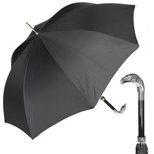 Зонт-трость Pasotti Eagle Silver Stripes S Black фото-1