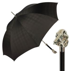 Зонт-трость Pasotti Fido Silver Сell Black фото-1