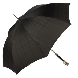 Зонт-трость Pasotti Fido Silver Сell Black фото-4