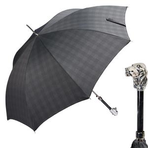 Зонт-Трость Pasotti Fido Silver Milford Grey фото-1