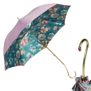 Зонт-трость Pasotti Giante Tella Biruza Oro фото-1