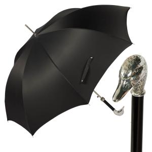 Зонт-трость Pasotti Goose Silver Oxford Black фото-1