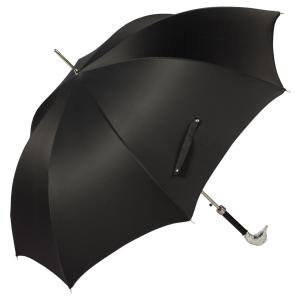 Зонт-трость Pasotti Goose Silver Oxford Black фото-3