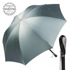 Зонт-трость Pasotti Swarovski Grigio фото-1