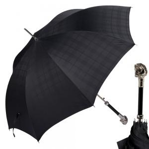 Зонт-трость Pasotti Horse Silver Cell Black фото-1