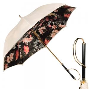 Зонт-Трость  Pasotti Ivory Crane Nero Rapira фото-1