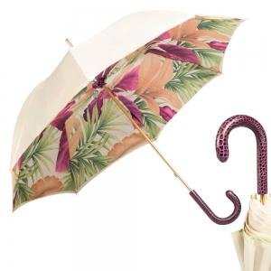 Зонт-трость Pasotti Ivory Viola Lazer фото-1