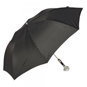 Зонт складной Pasotti Man Auto Leone Rombes Black фото-3