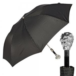 Зонт складной Pasotti Man Auto Leone Rombes Black фото-1