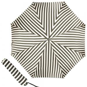 Зонт складной Pasotti Mini StripesL Nero/Beige фото-1
