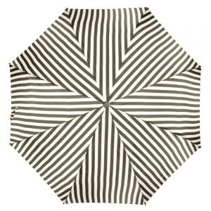 Зонт складной Pasotti Mini StripesL Nero/Beige фото-4