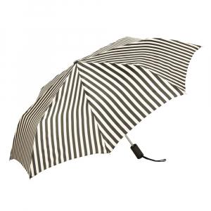 Зонт складной Pasotti Mini StripesL Nero/Beige фото-2