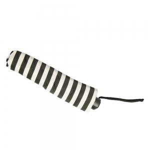 Зонт складной Pasotti Mini StripesL Nero/Beige фото-3