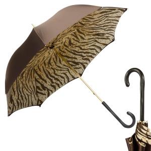 Зонт-трость Pasotti Marrone Leo Pure Original фото-1