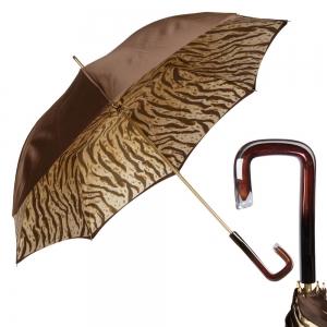 Зонт-трость Pasotti Marrone Leo Quatro фото-1