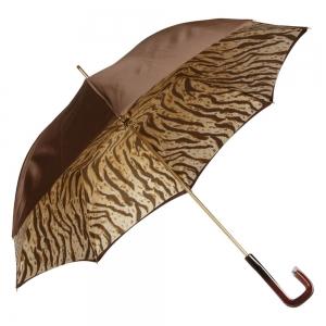 Зонт-трость Pasotti Marrone Leo Quatro фото-3