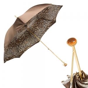 Зонт-трость Pasotti Marrone Leo Stone фото-1