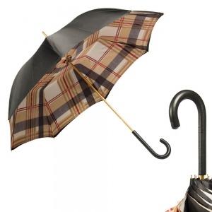 Зонт-трость Pasotti Nero Square Classic Pelle фото-1