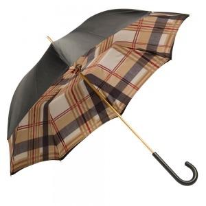 Зонт-трость Pasotti Nero Square Classic Pelle фото-5
