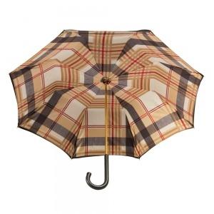 Зонт-трость Pasotti Nero Square Classic Pelle фото-3