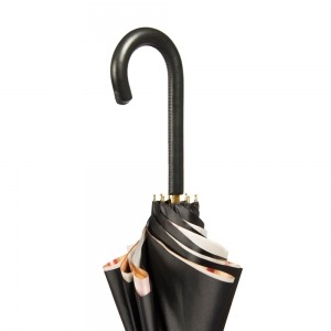 Зонт-трость Pasotti Nero Square Classic Pelle фото-4
