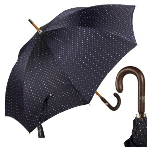 Зонт-трость Pasotti Pelle/Legno Dots Blu фото-1