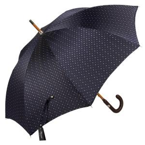 Зонт-трость Pasotti Pelle/Legno Dots Blu фото-5