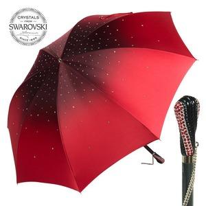 Зонт-Трость Pasotti Swarovski Rosso фото-1