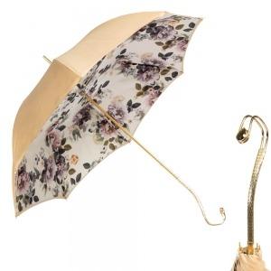 Зонт-трость Pasotti Sand Almond Duo Oro фото-1