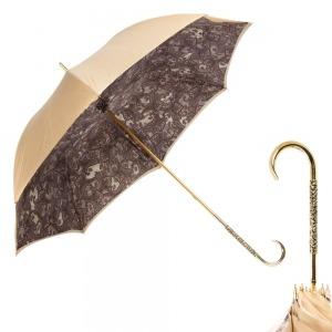 Зонт-трость Pasotti Sand Paisley Oro Dentell фото-1
