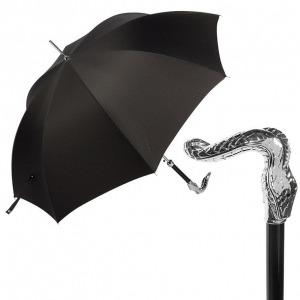 Зонт-трость Pasotti Sempia Silver Niagara Black фото-1