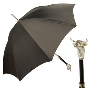 Зонт-трость Pasotti Toro Silver Grid Black фото-1
