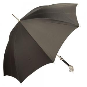 Зонт-трость Pasotti Toro Silver Grid Black фото-3
