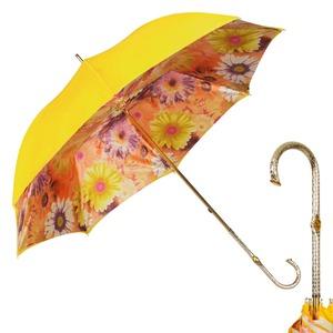 Зонт-трость Pasotti Yellow Gerbera Oro фото-1