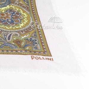 Палантин Pollini Enigma Beige 90х90 93% Модал 7% Кашемир фото-3