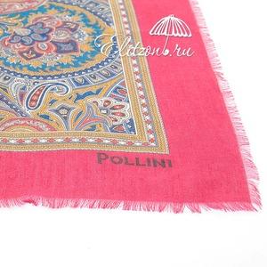 Палантин Pollini Enigma Red 90х90 93% Модал 7% Кашемир фото-3