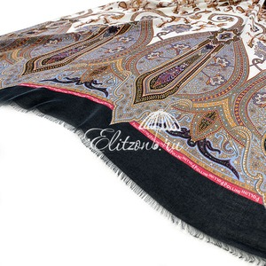 Палантин Pollini Fantasia Nero 90х180 93% Модал 7% Кашемир фото-3